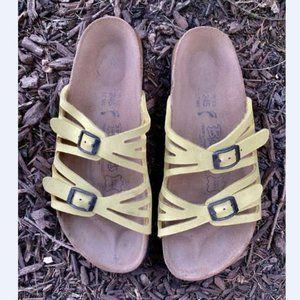 Birkenstock Women Yellow Granada Slide Sandals 38